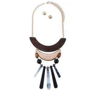 Wooden Necklace Set